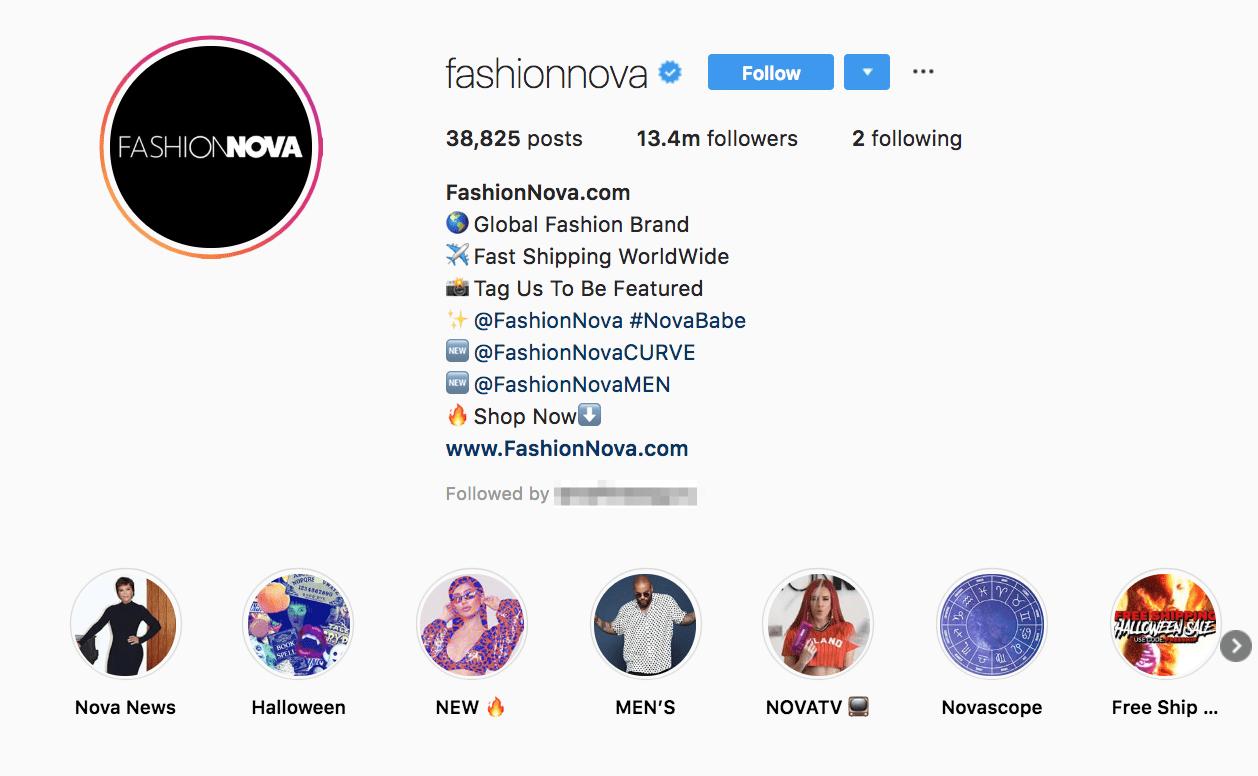 bio instagram